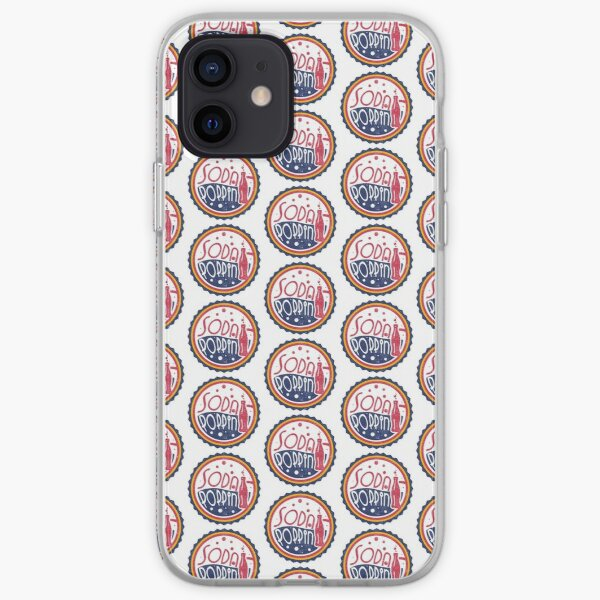 Sodapoppin Retro Soda Pop Bottle Cap Vintage Distressed Red Yellow Blue Design iPhone Soft Case RB1706 product Offical Sodapoppin Merch