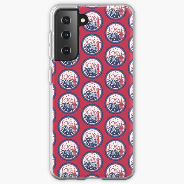 Sodapoppin Retro Soda Pop Bottle Cap Vintage Distressed Red Design Samsung Galaxy Soft Case RB1706 product Offical Sodapoppin Merch