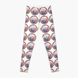 Sodapoppin Retro Soda Pop Bottle Cap Vintage Distressed Red Yellow Blue Design Leggings RB1706 product Offical Sodapoppin Merch