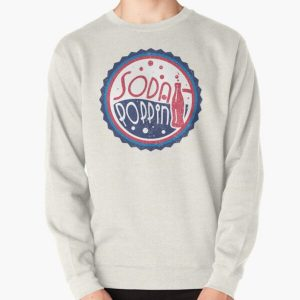 Sodapoppin Retro Soda Pop Bottle Cap Vintage Distressed Red Blue Design Pullover Sweatshirt RB1706 product Offical Sodapoppin Merch
