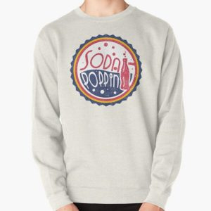 Sodapoppin Retro Soda Pop Bottle Cap Vintage Distressed Red Yellow Blue Design Pullover Sweatshirt RB1706 product Offical Sodapoppin Merch