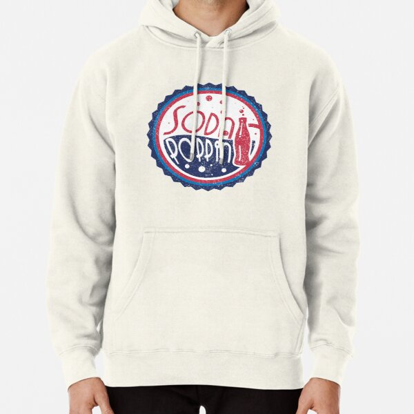 Sodapoppin Retro Soda Pop Bottle Cap Vintage Distressed Red Blue Design Pullover Hoodie RB1706 product Offical Sodapoppin Merch