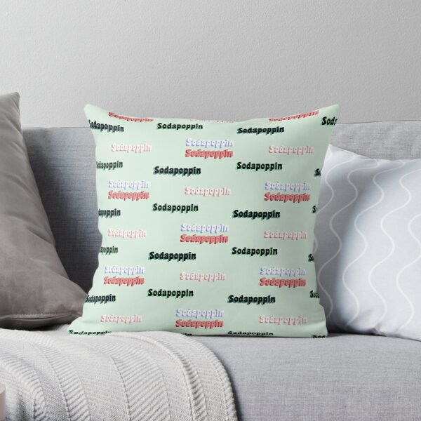 Sodapoppin STICKER PACK Throw Pillow RB1706 product Offical Sodapoppin Merch
