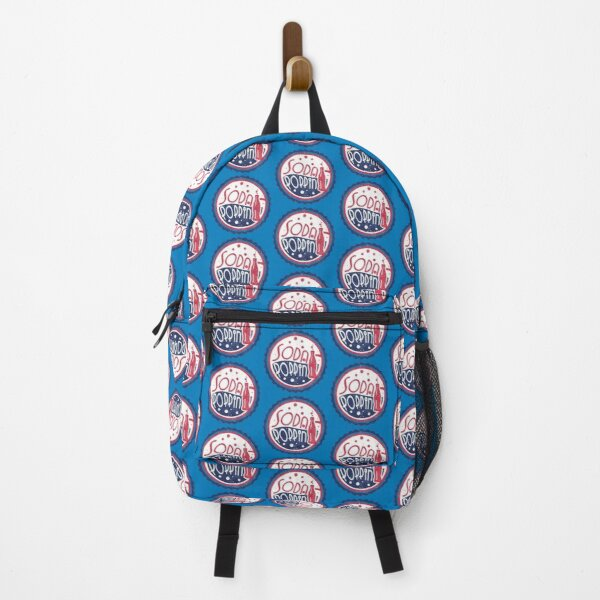Sodapoppin Retro Soda Pop Bottle Cap Vintage Distressed Red Blue Design Backpack RB1706 product Offical Sodapoppin Merch