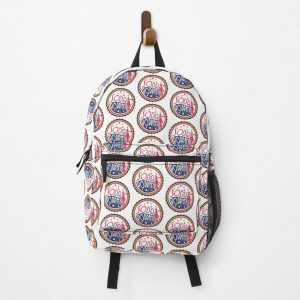 Sodapoppin Retro Soda Pop Bottle Cap Vintage Distressed Red Yellow Blue Design Backpack RB1706 product Offical Sodapoppin Merch