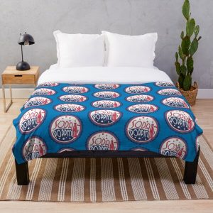 Sodapoppin Retro Soda Pop Bottle Cap Vintage Distressed Red Blue Design Throw Blanket RB1706 product Offical Sodapoppin Merch