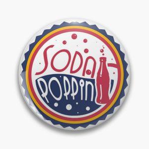 Sodapoppin Retro Soda Pop Bottle Cap Red Yellow Blue Design Pin RB1706 product Offical Sodapoppin Merch